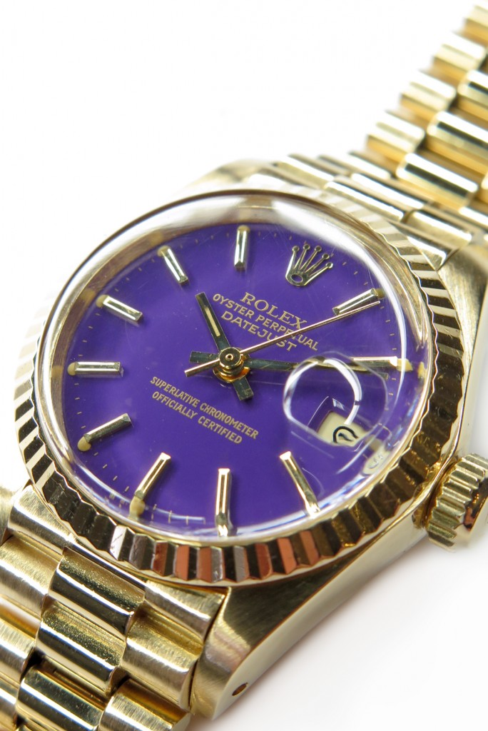 Rolex Day Date Stella Dial lila Large