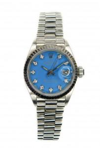 rolex stella dial day date blauw