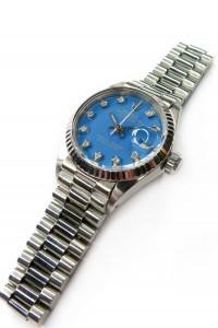 rolex stella dial day date blue