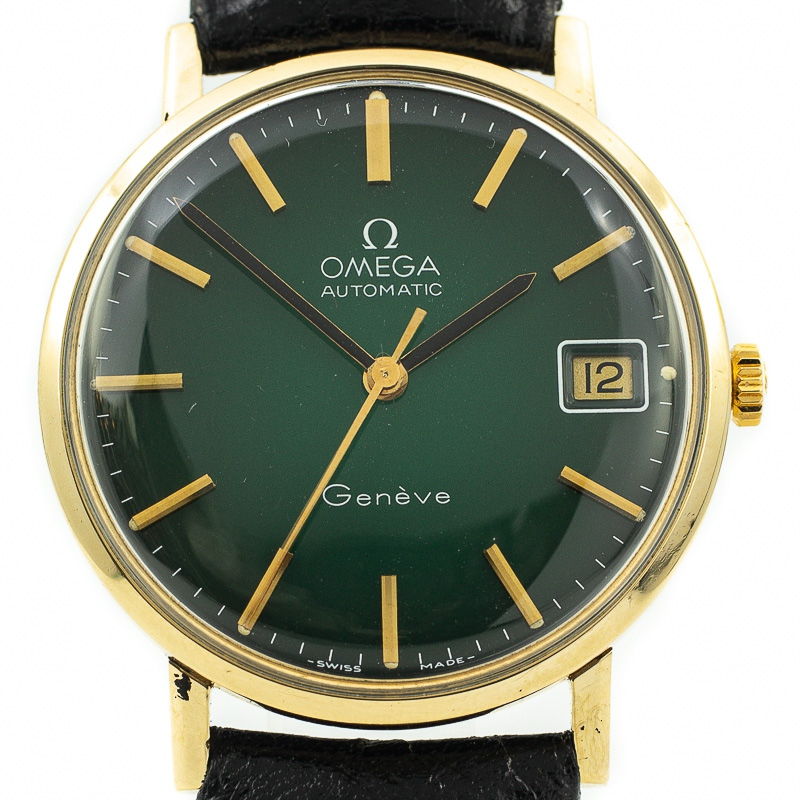 Omega Geneve Green Vignette dial