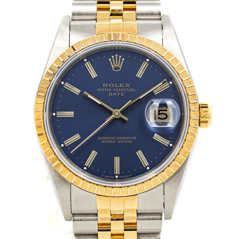 Rolex Date Ref 15233 B+P NOS