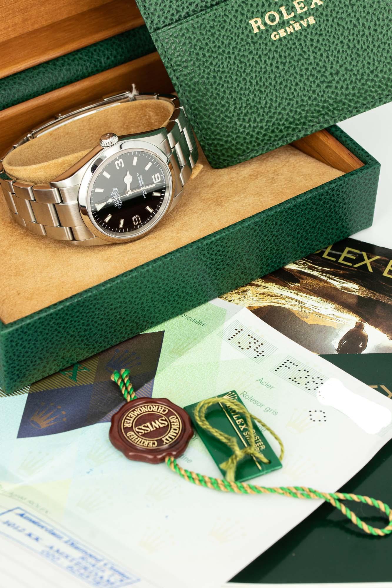 Rolex explorer Ref. 114270 B+P