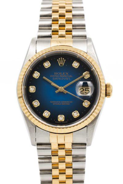 Rolex Datejust ref 16233 Vignette Blue