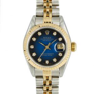 Rolex Datejust Blue Vignette