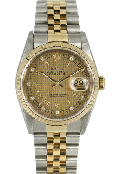 Rolex Datejust Ref. 16233 Houndstooth Dial